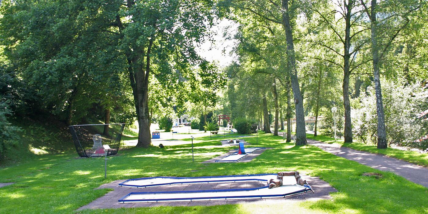 Minigolf im Kurpark Bad Liebenzell